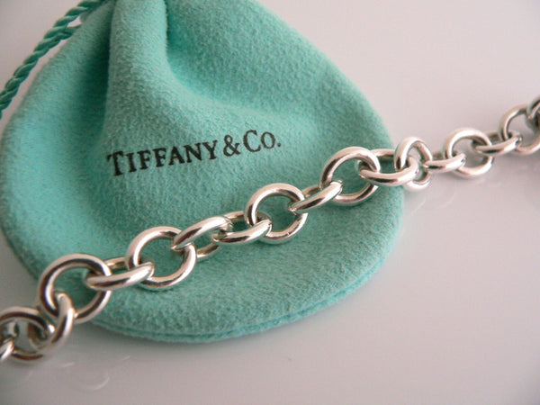 Tiffany & Co Silver I LOVE YOU Heart Padlock Bracelet Bangle Charm Gift Pouch