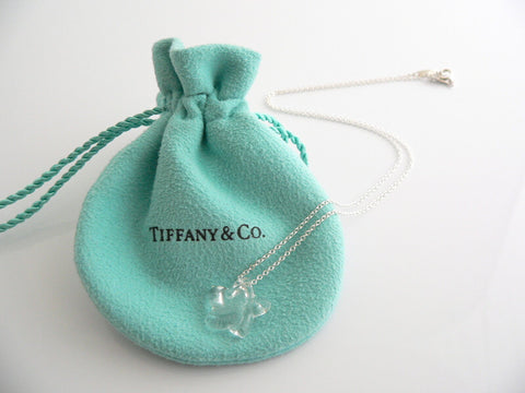 Tiffany & Co Silver Peretti Rock Crystal Star Necklace Pendant Rare Gift Pouch