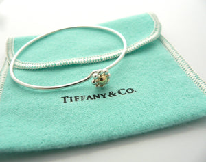 Tiffany & Co Silver 18K Gold Picasso Jolie Flower Bead Bracelet Bangle Gift Love
