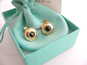 Tiffany & Co Silver 18K Gold Picasso Magic Reversible Disc Earrings Rare Gift