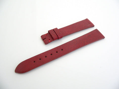 Tiffany & Co 15 MM Red Lizard Leather Textured Watch Strap Replacement Part