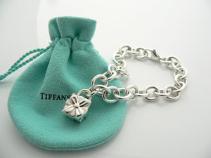 Tiffany & Co Silver Signature Gift Box Bracelet Ribbon Bow Charm Gift Pouch