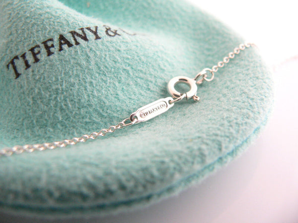 Tiffany & Co Silver 1837 Diamond Necklace Pendant 18 Inch Longer Gift Love