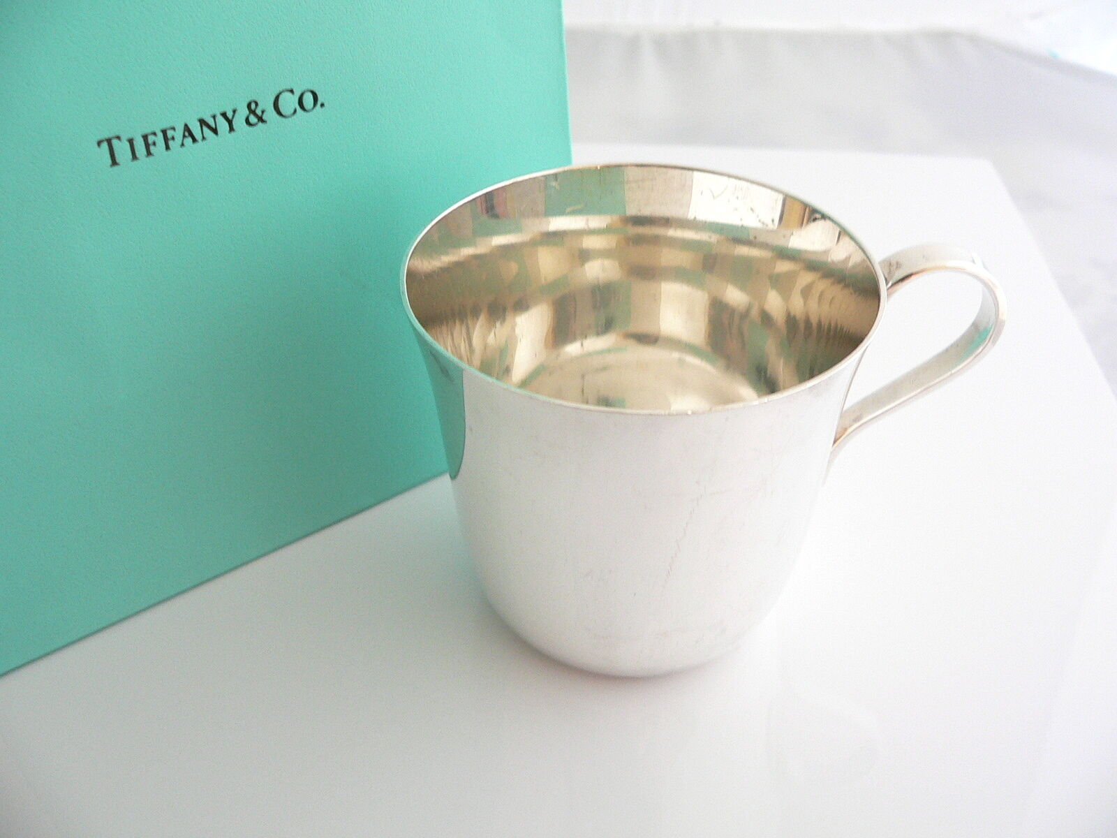 Tiffany & Co Silver Baby Cup Cute Rare Vintage Antique Hierloom Gift Bag