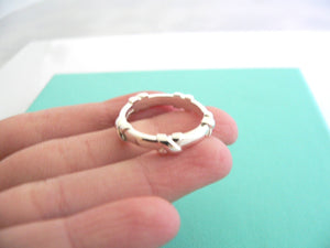 Tiffany & Co Silver Signature X Stacking Ring Band Sz 6.25 Rare Gift Love