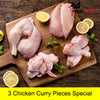 Chicken Curry Pieces - Pack of 3