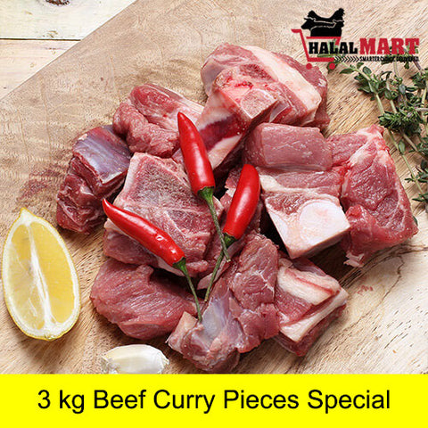 Beef Curry Pieces 3 kg
