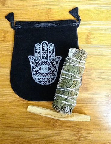 White Sage Smudge With Peppermint Set - Edy's Treasures