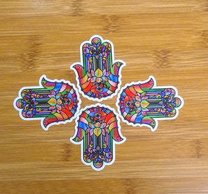 Hamsa & Om Die-Cut Sticker Pack
