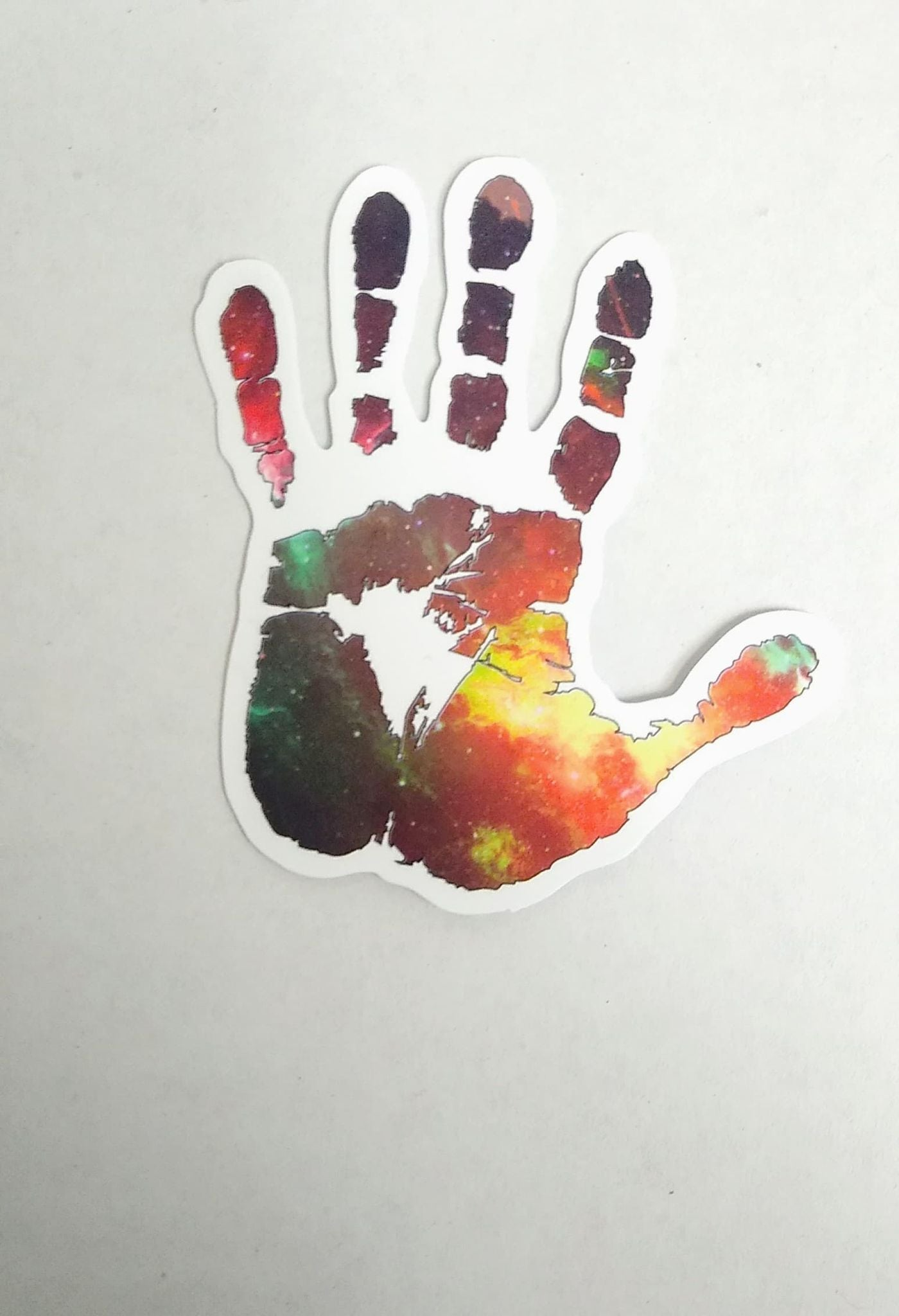 2pcs Hand Galaxy color stickers