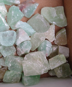 2 Rough Green Calcite XSmall & Small W