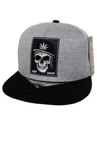 Leaf Skull Patch Cap
