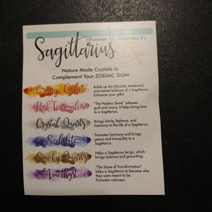 Sagittarius Horoscope Crystals Set Of 6