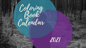 NEW! 2021 Coloring Monthly Calendar Printable