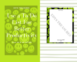 To Do List Printable ,Daily Task List, Stay Organized, Daily Notes - Edy's Treasures