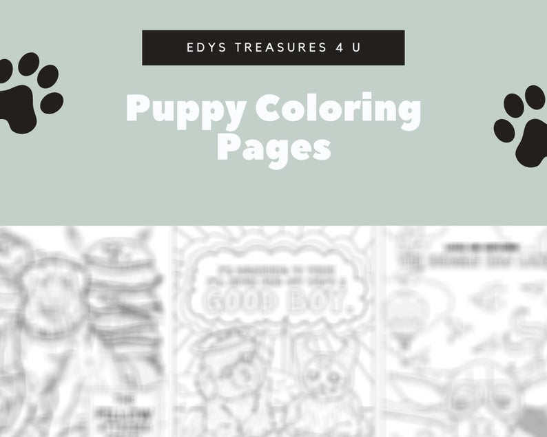 10 Unique Precocious Pups Coloring Pages, Great For Kids And Adults - Edy's Treasures