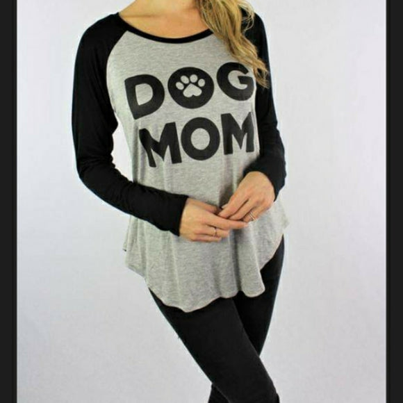 Long Sleeve Dog Mom Top - Edy's Treasures