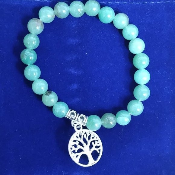 Green Aventurine Stone Bracelet Tree of Life - Edy's Treasures