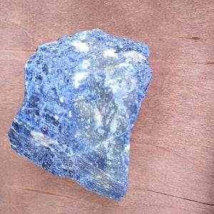 Sodalite Rough Blue & White Crystal