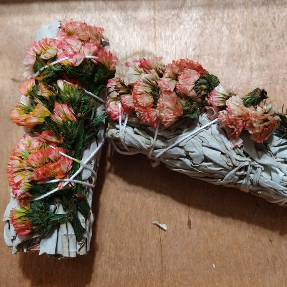 1 Pink Sinuata White Sage Stick