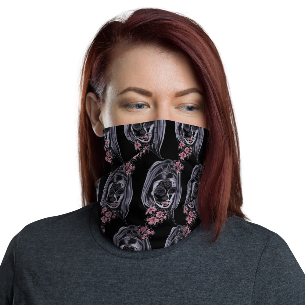 Pretty Skull Face Mask Neck Gaiter - Edy's Treasures