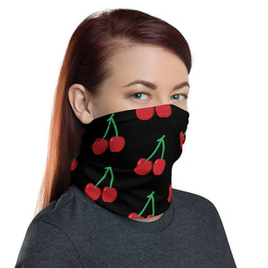 Cherry Unisex Made In The USA, Face mask, Dust Mask, Headband, Washable Mask ,Reusable Mask Neck Gaiter - Edy's Treasures