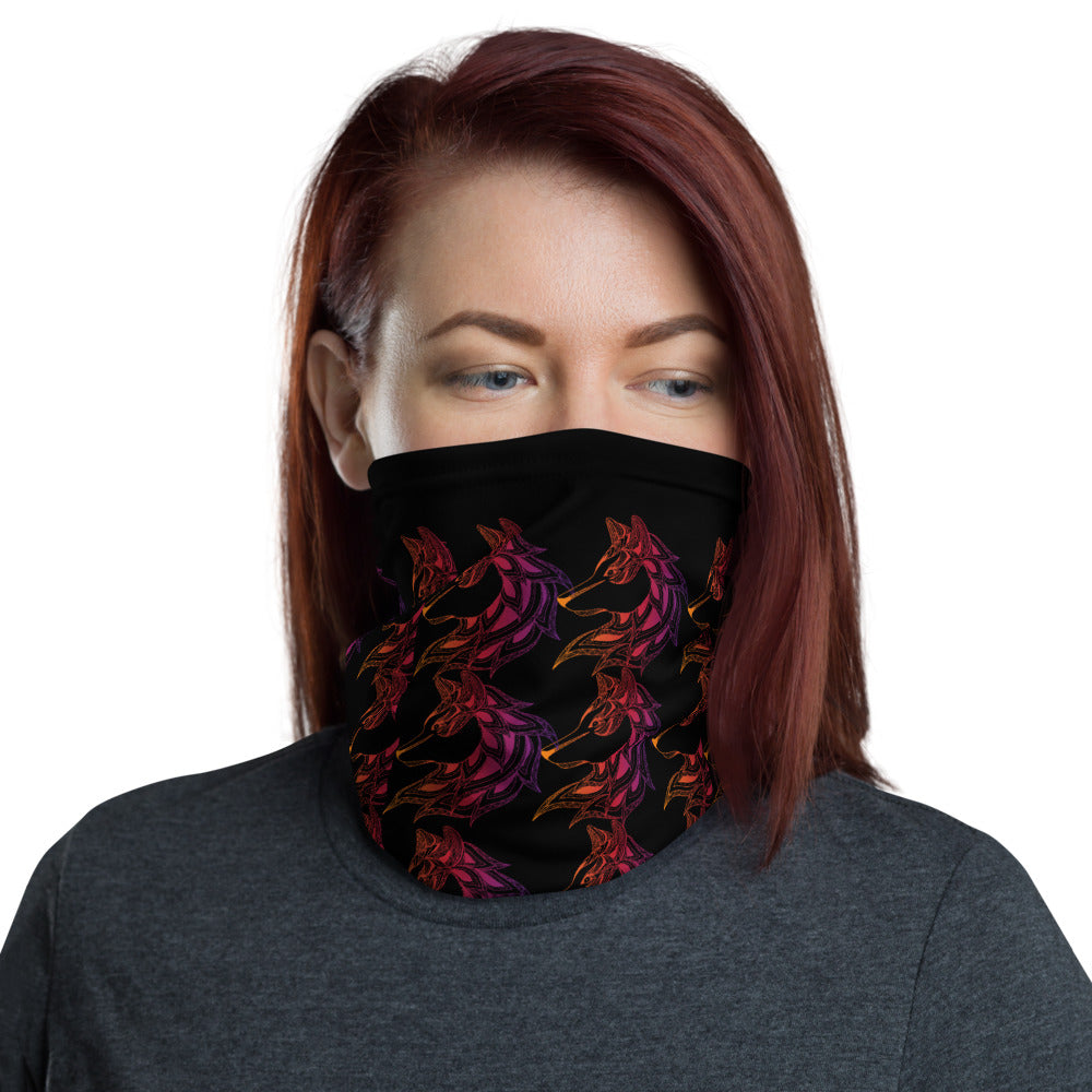 Wolf Color Spirit Face Mask Neck Gaiter - Edy's Treasures