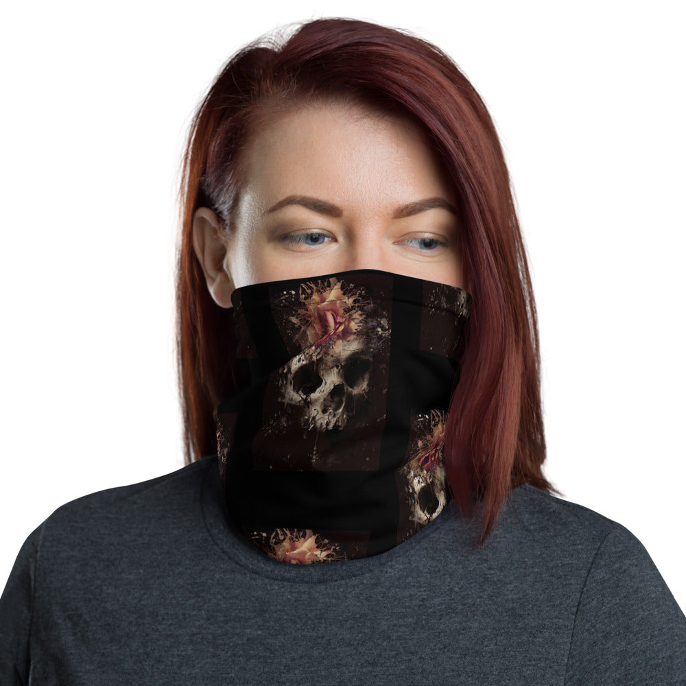 Skull flower Summer Face Mask Neck Gaiter - Edy's Treasures