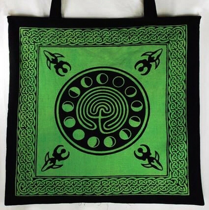 MOON PHASE SHOPPING TOTE BAG -Earth Goddess
