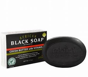 Black Soap Cocoa Butter With Vitamin E - Edy's Treasures