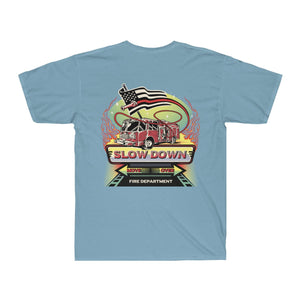 Men's Surf Tee  - SDMO Fire Mural Design