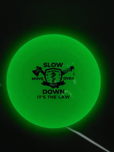 "9.5"" Flying Disc - Glow In The Dark - Multi w/ It's The Law"