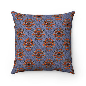 Spun Polyester Square Pillow - SDMO Multi-Badge
