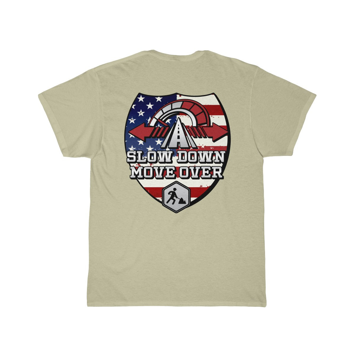 Tee (Back Design) - SDMO Flag Shield (Road Construction)