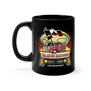 Black mug 11oz - Canadian SDMO Fire Mural