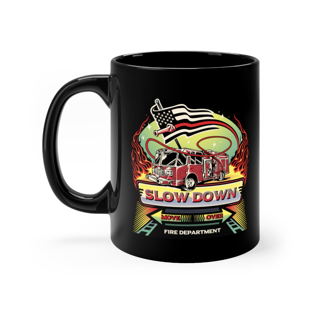 Black mug 11oz - SDMO Fire Mural