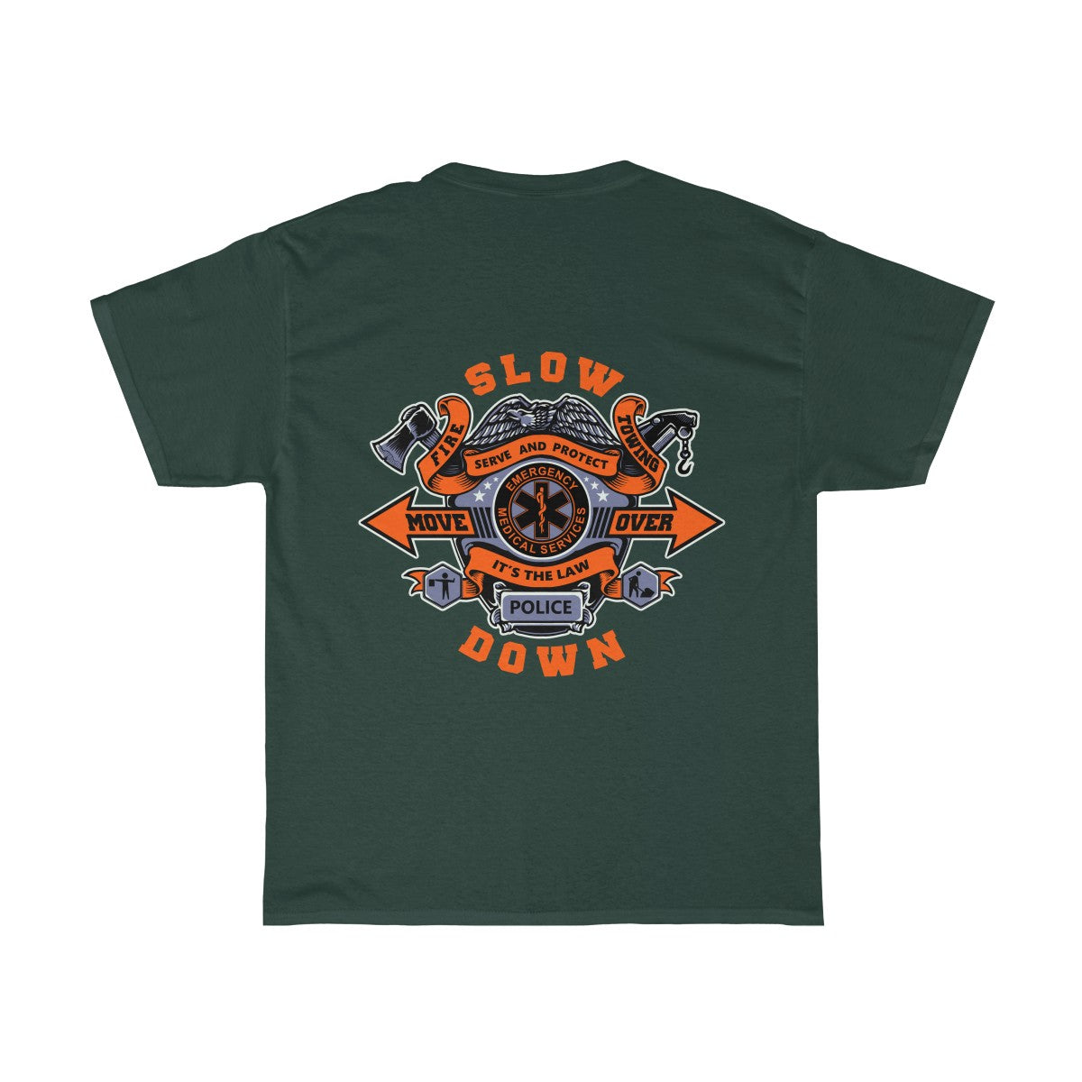 Heavy Cotton Tee - SDMO Multi-Badge Design
