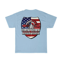 Load image into Gallery viewer, Basic Heavy Cotton Tee - SDMO Flag Badge Design