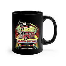 Load image into Gallery viewer, Black mug 11oz - SDMO Fire Mural