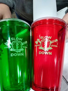 Plastic Tumbler – Double Wall with Lid and Straw – Multi Emblem