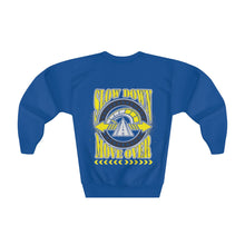 Load image into Gallery viewer, Youth Crewneck Sweatshirt - SDMO Shield & Big Yellow