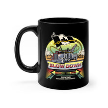 Load image into Gallery viewer, Black mug 11oz - Canadian SDMO Towing Mural
