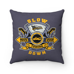 Faux Suede Square Pillow - SDMO Special Towing