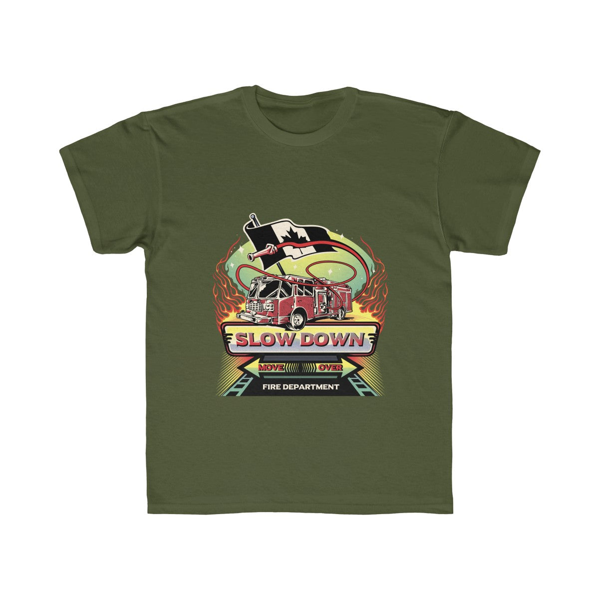 Kids Regular Fit Tee - Canadian SDMO Fire Mural Design