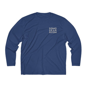 Men's Long Sleeve Moisture Absorbing Tee - SDMO Gear and SDMO Four Flag
