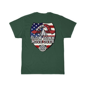 Tee (Back Design) - SDMO Flag Shield (Fire)