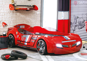Helux Car Bed BiTurbo Series Red