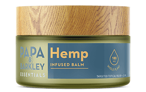 Container of hemp-infused balm