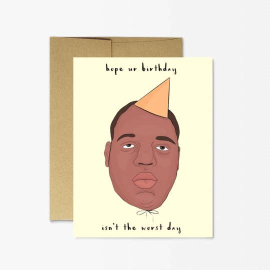 Biggie Birthday Card