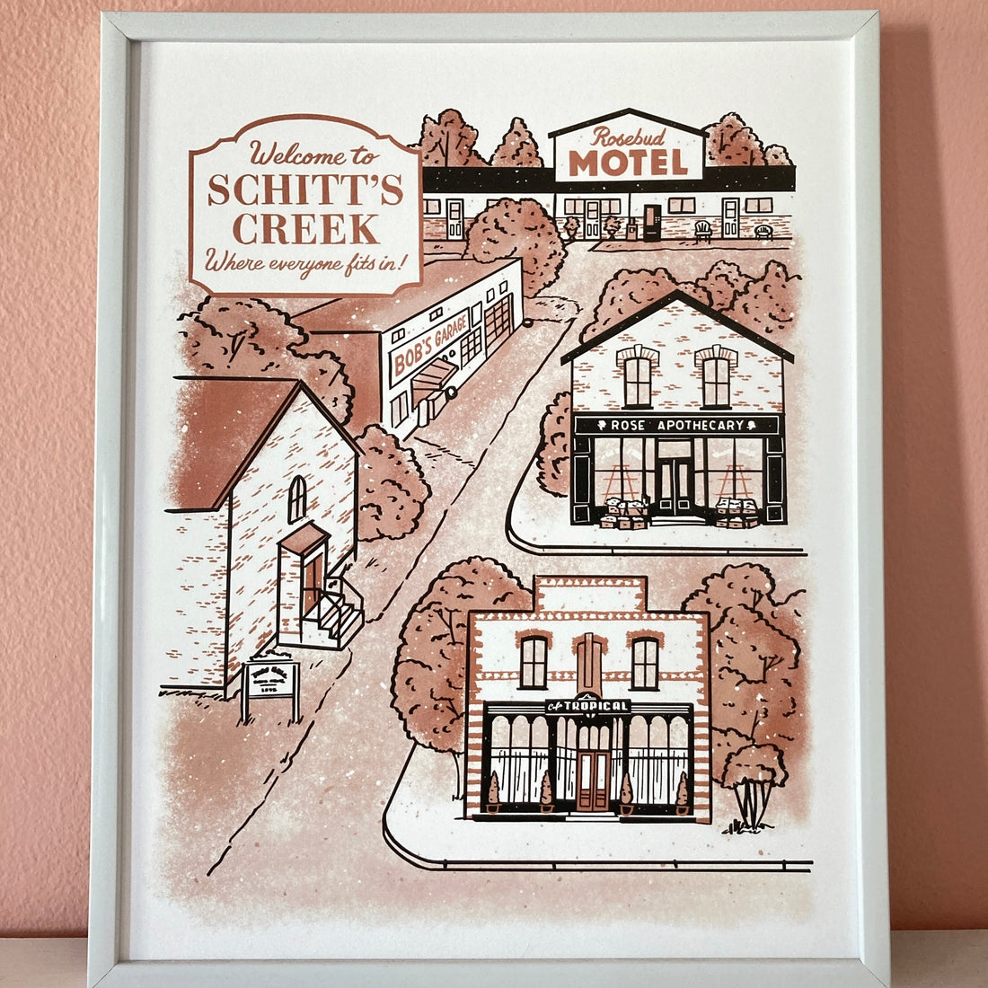 Schitt's Creek Art Print
